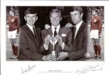 Martin Peters & Geoff Hurst Autograph Signed Photo - 1966 World Cup